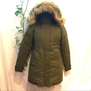 Jackets & Blazers - NWOT Ladies XS Khaki Winter Coat parka with hood